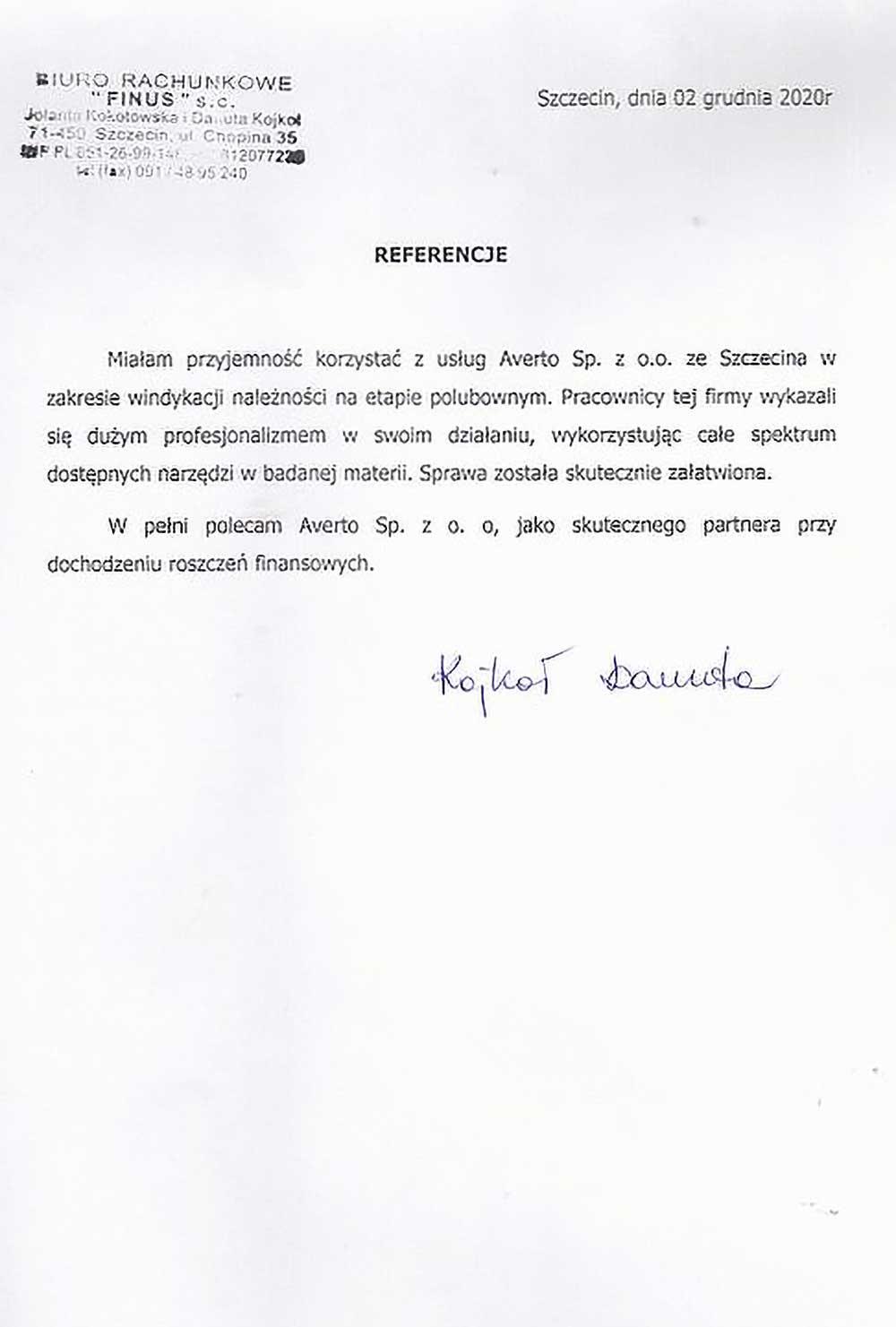 Referencja od Wojciecha Markiewicza (SEL – Wojciech Markiewicz)